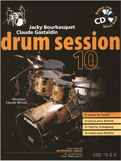 Bourbasquet: Drum Session 10 25 Pièces Pour Batterie (Livre + Cd) - Le Livre Books | Drums