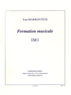 Ivan Markovitch: Music Theory - IM1 Libro | Todos Instrumentos