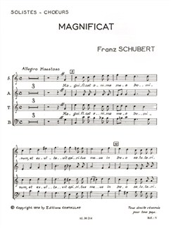 Franz Peter Schubert: Magnificat D486 in C (Choral-Mixed accompanied) Books | Orchestra