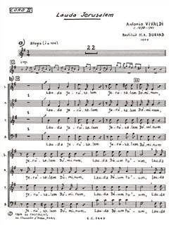Antonio Lucio Vivaldi: Lauda Jerusalem (Chorus Part 2) (Choral) Buch | Chor