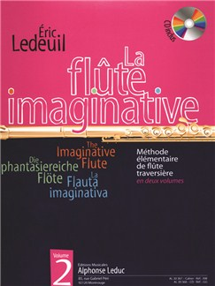 Eric Ledeuil: La Flûte Imaginative - Méthode Élémentaire  Vol.2 (Book/CD) Books and CDs | Flute
