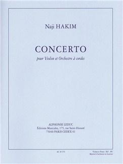 Naji Hakim: Concerto Pour Violon Et Orchestre À Cordes (35') Réduction Pour Violon Et Piano Books | Violin, Piano Accompaniment