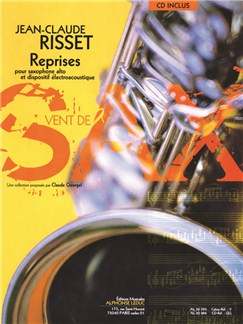 Jean-Claude Risset: Reprises For Alto Saxophone And Electroacoustic Device (Book/CD) Books and CDs | Alto Saxophone, Electronics
