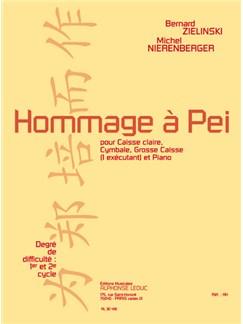 Nierenberger: Hommage à pei (cycle 1 et 2) (3'30'') pour caisse claire, cymbale, grosse caisse (1 exécutant) et piano Books | Drums