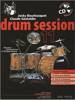 Bourbasquet/Gastlaldin: Drum Session 11 (Book/CD) Books | Drums