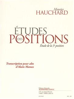 Hauchard: études des positions (étude de la 3e position) transcription pour alto d'alain mames Livre | Alto