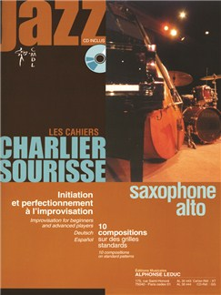 Les Cahiers Charlier Sourisse: Jazz - Alto Saxophone (Book/CD) Books and CDs | Alto Saxophone