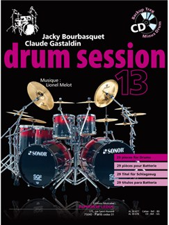 Bourbasquet/Gastlaldin: Drum Session 13 (Book/CD) CD y Libro | Batería