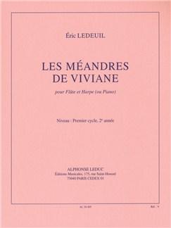 Eric Ledeuil: Les Méandres De Viviane (Flute/Harp or Piano) Libro | Flauta, Arpa, Acompañamiento de Piano