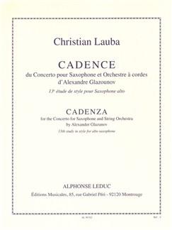 Christian Lauba: Cadence Du Concerto Alto Saxophone Et Orchestra A Cordes D'Alexandre Glazunov Libro | Saxofón