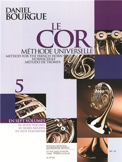 Daniel Bourgue: Le Cor Méthode Universelle Vol.5 (Horn) Books | French Horn