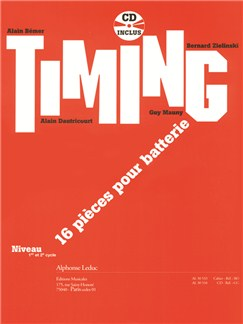 Alain Bémer: Timing - 16 Pièces Pour Batterie Books | Drums, Percussion