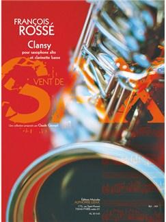 Rossé: Clansy (5'30'') (8e) (collection vent de sax) pour saxophone alto et clarinette basse Books | Alto Saxophone, Bass Clarinet
