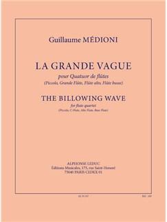 Medioni: La grande vague (5'30'') pour quatuor de flûtes (piccolo, grande flûte, flûte alto, flûte basse) (partition et parties) Books | Flute