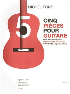 Michel Pons: Cinq Pièces For Guitar Books | Guitar
