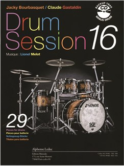 Bourbasquet/Gastlaldin: Drum Session 16 (Book/CD) CD y Libro | Batería
