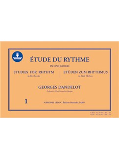 Georges Dandelot: Etude Du Rythme Vol.1 (Book/Audio Download) Buch und Digitale Audio | Percussion