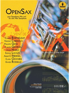 OpenSax (Book/Download Card) Livre | Saxophone Alto, Accompagnement Piano