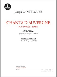 Joseph Canteloube: Chants D'Auvergne (Book/Online Audio) Books and Digital Audio | Voice, Piano Accompaniment