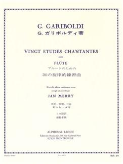 Gariboldi: 20 études chantantes op88 Flûte Livre | Flûte Traversière