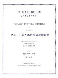 Gariboldi: 20 petites études Flûte Livre | Flûte Traversière