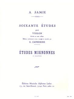 Auguste Samie: 60 Etudes Vol.1 Etudes Mignonnes Op.31 (Violin) (Catherine) Books | Violin
