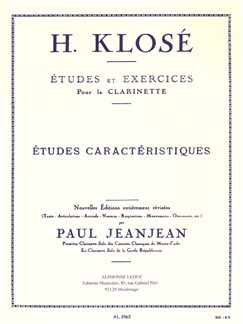 Hyacinthe Klosé: Etudes Et Exercices Pour La Clarinette - Exercices Caractéristiques Books | Clarinet