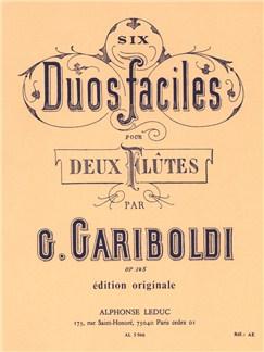 Giuseppe Gariboldi: Six Duos Faciles Op.145 (2 Flutes) Libro | Flauta(Dueto)