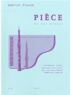 Gabriel Pierné: Pièce In G Minor Op.5 (Oboe/Piano) Books | Oboe, Piano Accompaniment