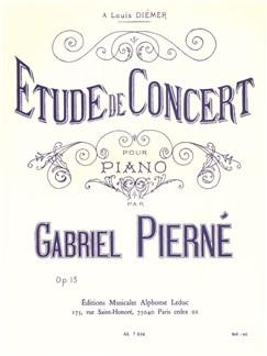 Gabriel Pierné: Étude De Concert, Op. 13 (Piano) Livre | Piano