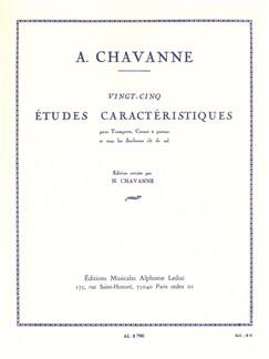 André Chavanne: Twenty-five characteristic studies (Trompette, Cornet, SaxCor) Livre | Trompette