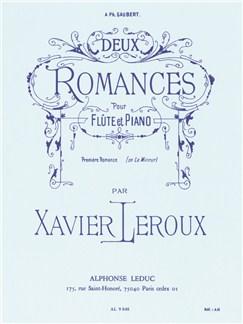 Xavier Leroux: Deux Romances (Flûte/Piano) Livre | Flûte Traversière