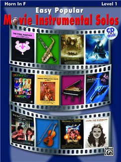 Easy Popular Movie Instrumental Solos - Horn In F Books and CDs | French Horn