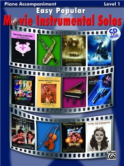 Easy Popular Movie Instrumental Solos - Piano Accompaniment For Woodwind And Brass Books and CDs | Piano Accompaniment