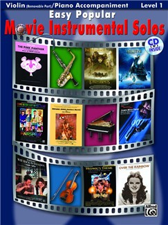 Easy Popular Movie Instrumental Solos - Violin And Piano Accompaniment Books and CDs | Violin, Piano Accompaniment