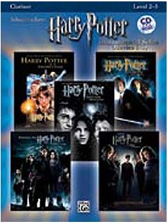 Harry Potter - Instrumental Solos (Movies 1-5) - Clarinet Books and CDs | Clarinet
