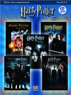 Harry Potter - Instrumental Solos (Movies 1-5) - Piano Accompaniment For Brass And Woodwind Books and CDs | Piano Accompaniment