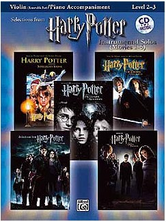 Harry Potter - Instrumental Solos (Movies 1-5) - Violin And Piano Accompaniment CD et Livre | Violon, Accompagnement Piano