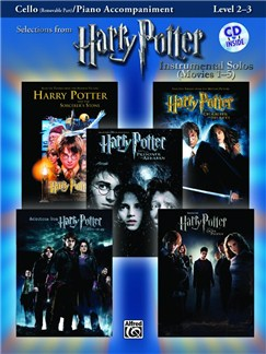 Harry Potter - Instrumental Solos (Movies 1-5) - Cello And Piano Accompaniment Books and CDs | Cello, Piano Accompaniment