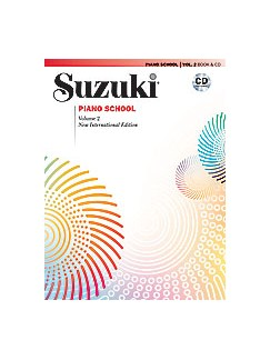Suzuki Piano School New International Edition - Volume 2 (Book/CD) Books and CDs | Piano