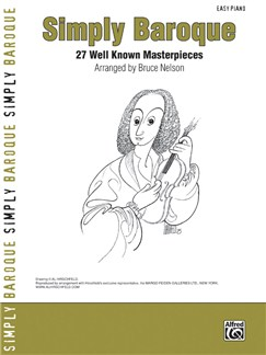 Simply Baroque - 27 Well Known Masterpieces Books | Piano