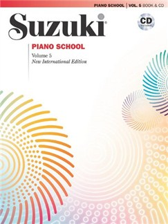 Suzuki Piano School Vol 5: Book & CD - New International Edition Books and CDs | Piano