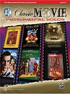 Classic Movie Instrumental Solos: Cello (Book/CD) Books and CDs | Cello