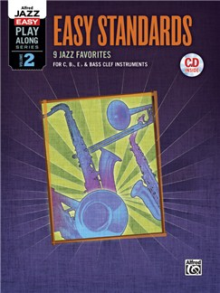 Alfred Jazz Easy Play-Along Series Volume 2: Easy Standards (Book/CD) Books and CDs | All Instruments