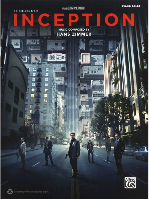 Hans Zimmer Inception Movie Selections Piano Sheet Music
