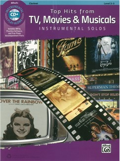 Alfred's Instrumental Play-Along: Top Hits From TV, Movies & Musicals - Clarinet (Book/CD) Bog og CD | Klarinet
