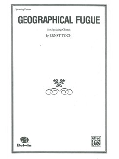 Ernst Toch: Geographical Fugue Books | SATB
