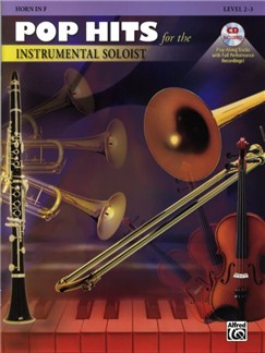 Pop Hits For The Instrumental Soloist (Horn In F) Books and CDs | Horn