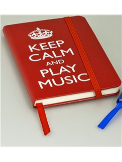 Keep Calm And Play Music - A6 Notebook (Red)  |