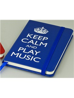 Keep Calm And Play Music - A6 Notebook (Blue)  |